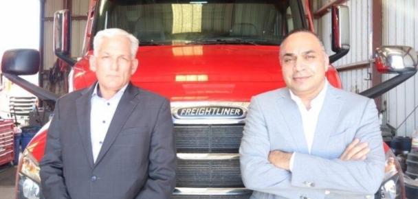 Sunny Samara (right) founded Legend Transportation in 2006. Robert Moffitt joined the company in 2007.
